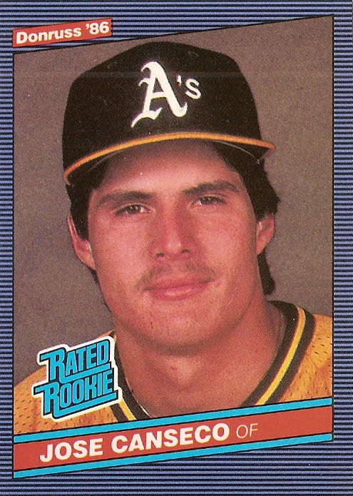 Card Of The Day 1986 Donruss Jose Canseco Rookie