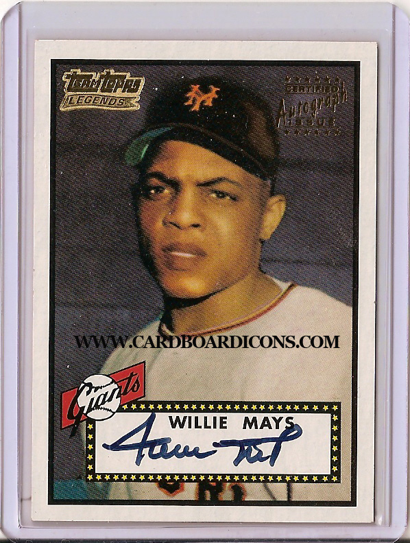 Card Of The Day 1952 Topps Willie Mays