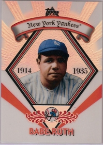 2009 Topps Legends Chrome Refractor Babe Ruth