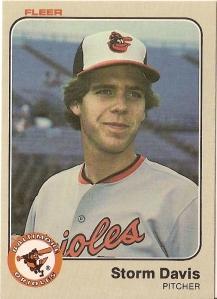 1983 Fleer Storm Davis rookie