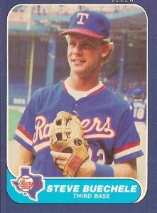 1986 Fleer Steve Buechele rookie