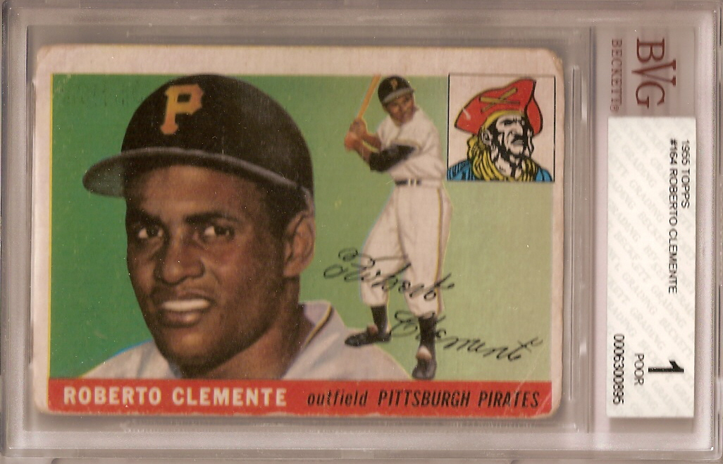 Rookie Card Showcase 1955 Topps Roberto Clemente