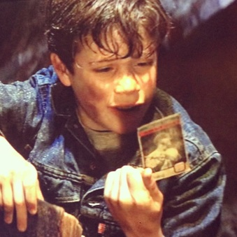 Image result for topps baseball card in The Goonies