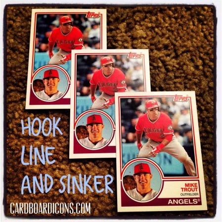 Icon-O-Clasm: Hook, Line and Sinker, 2015 Topps Archives Mike Trout cards