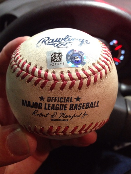 Update to Carlos Gomez-Madison Bumgarner used ball from 8/11/15