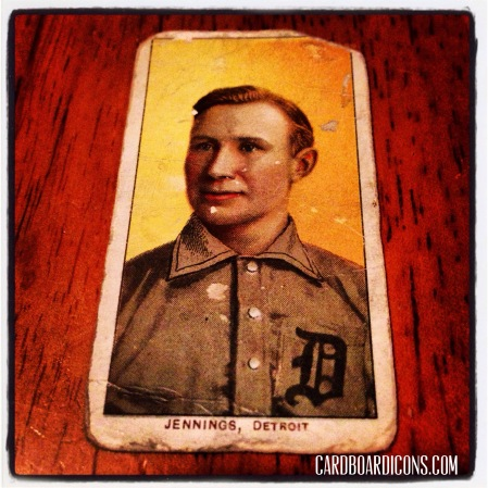 1909 T206 Hughie Jennings: 106 years old, 3 rounded corners and 2 sort of sharp ones