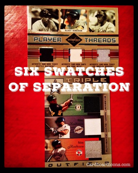 Icon-O-Clasm: Six Swatches of Separation — Rickey Henderson game-used cards