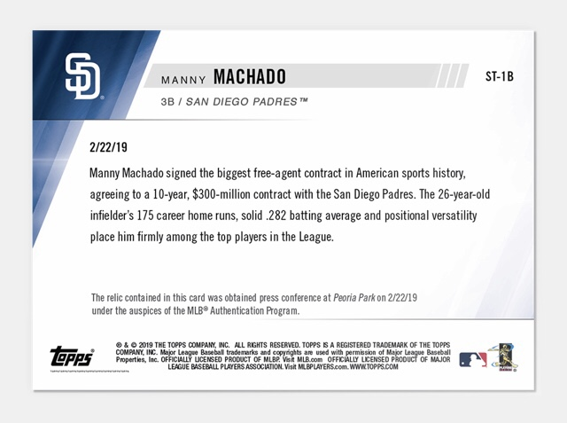 Machado Topps Now Relic draws ire … but why are we so angry?
