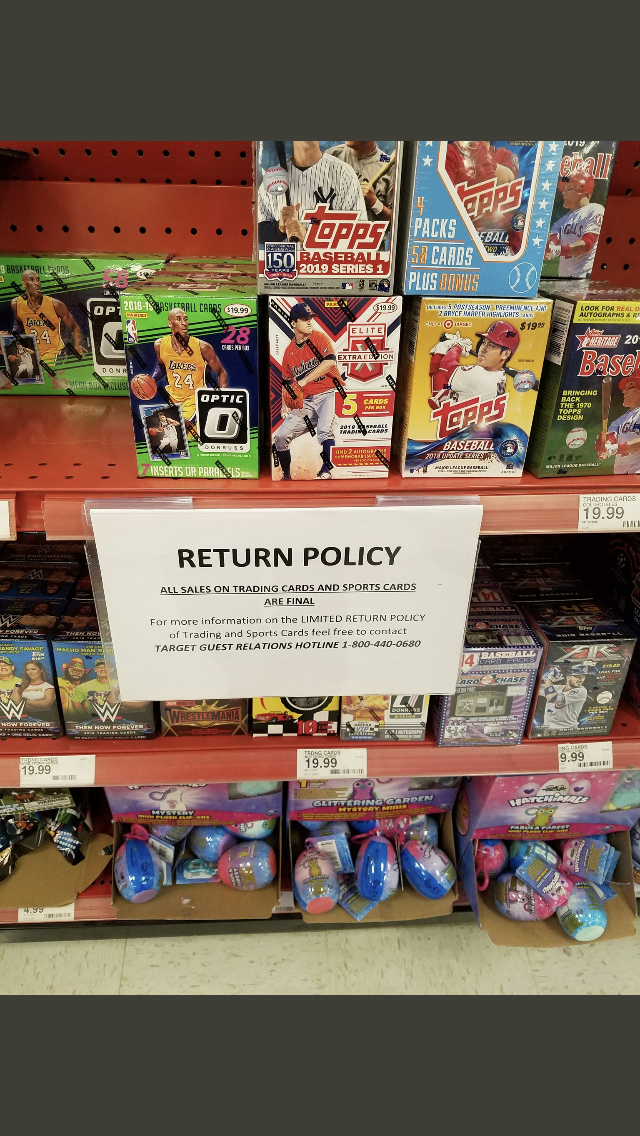 Targets New Card Return Policy